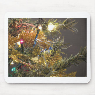 Christmas tree and Christmas decorations Mouse Pad