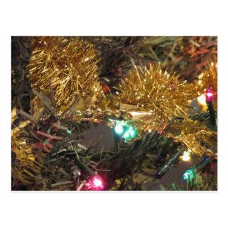 Christmas tree and Christmas decorations Postcard