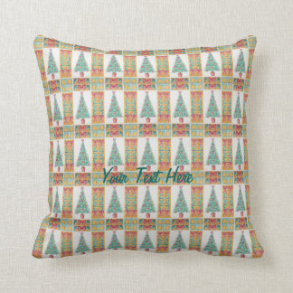 Christmas tree and decorations and red bows cushions