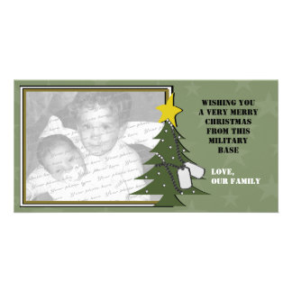 Christmas Tree and Dog Tags Photo Card