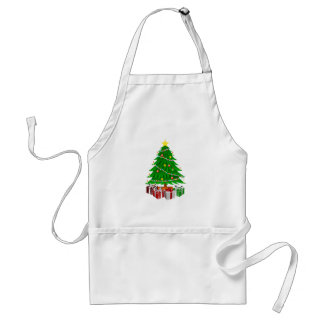 Christmas tree and gifts standard apron