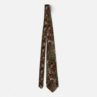 Christmas tree and living room pattern tie
