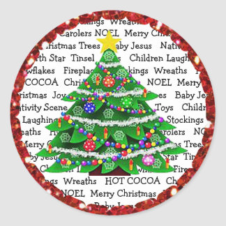 Christmas Tree and Presents Holiday Stickers