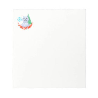 Christmas Tree And Snowman Notepad