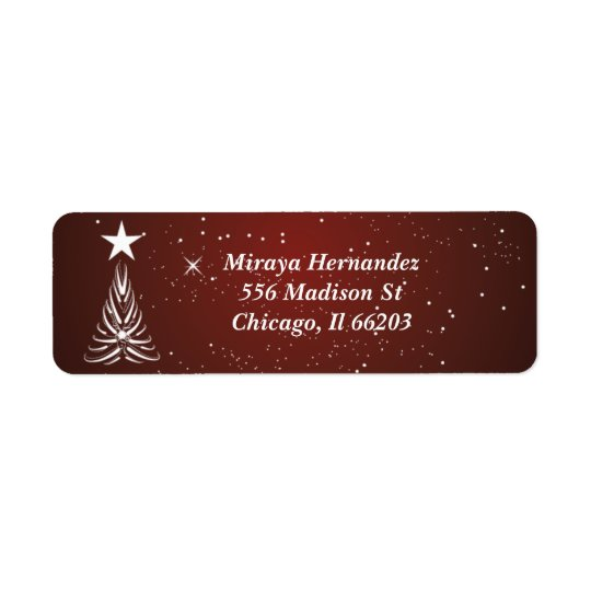 Christmas Tree and Star On Top Address Labels