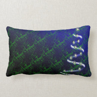 Christmas Tree and Stars - Lumbar Cushion