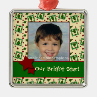 Christmas Tree and Stars Personalized Ornaments