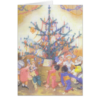 Christmas Tree and Toys, Card