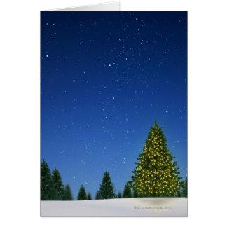 Christmas Tree at Night Greeting Card