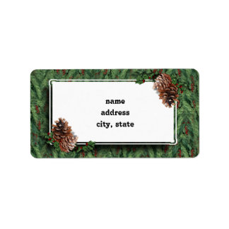 Christmas Tree Background w/Tag Label