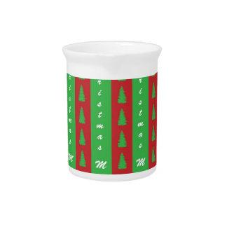 Christmas Tree Backgroundpattern Drink Pitchers