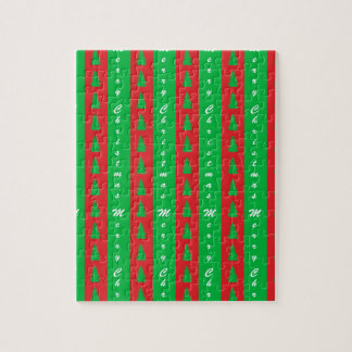 Christmas Tree Backgroundpattern Jigsaw Puzzle