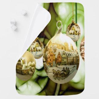 christmas tree balls with santa claus wand snow fl baby blanket