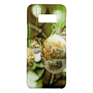 christmas tree balls with santa claus wand snow fl Case-Mate samsung galaxy s8 case