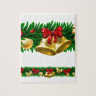 Christmas Tree Baubles Wreath Design Border Jigsaw Puzzle