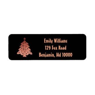 Christmas Tree Beauty Return Address Label