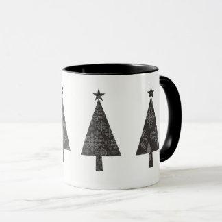 Christmas Tree Black Lace Elegant Classy Minimal Mug