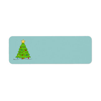 Christmas Tree Blank Labels