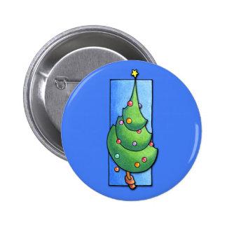 Christmas Tree blue Button