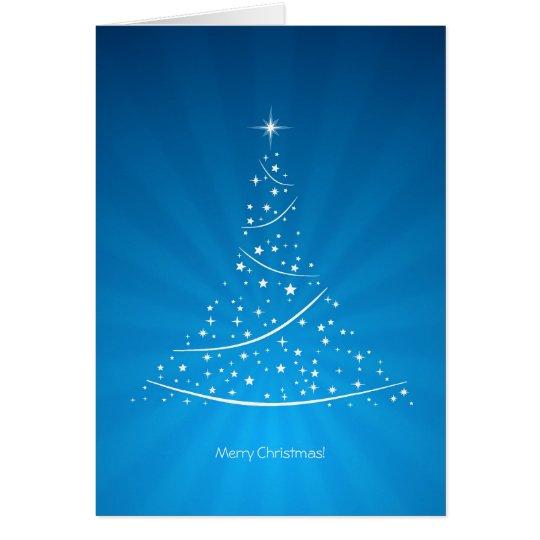 Christmas Tree (Blue) card