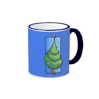 Christmas Tree blue Mug