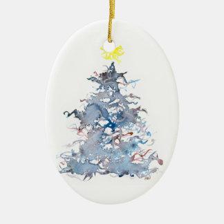 Christmas Tree, Blue, Ornament