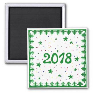 Christmas tree border 2018 magnet. magnet