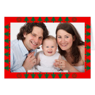 Christmas Tree Border with Photo Card
