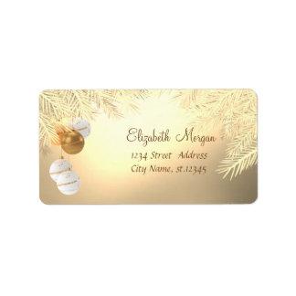 Christmas Tree Branches ,Christmas Balls Label