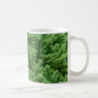 christmas tree branches basic white mug