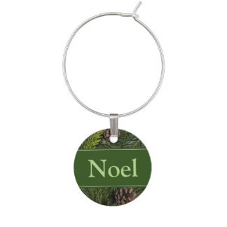 Christmas Tree Branches Wine Charm