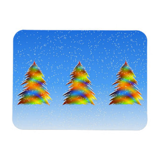 Christmas Tree bright Rectangular Magnet