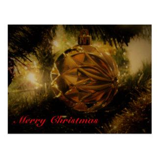Christmas Tree Bulb Postcard