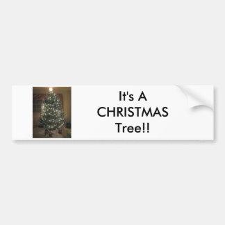 Christmas Tree Car Bumper Sticker