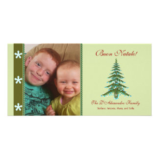 Christmas Tree Buon Natale Photo Holiday Card Personalized Photo Card