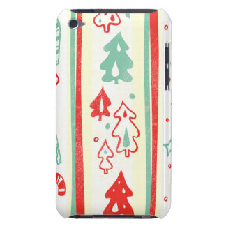 Christmas Tree Candy Cane Stripe Pattern Barely There iPod Covers