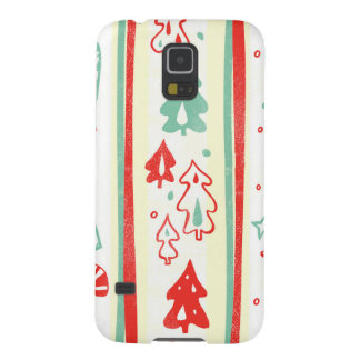 Christmas Tree Candy Cane Stripe Pattern Galaxy S5 Cover