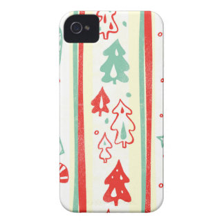 Christmas Tree Candy Cane Stripe Pattern Case-Mate iPhone 4 Cases
