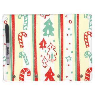 Christmas Tree Candy Cane Stripe Pattern Dry-Erase Whiteboard