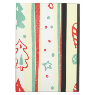 Christmas Tree Candy Cane Stripe Pattern iPad Air Covers