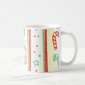 Christmas Tree Candy Cane Stripe Pattern Mug