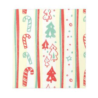 Christmas Tree Candy Cane Stripe Pattern Scratch Pad