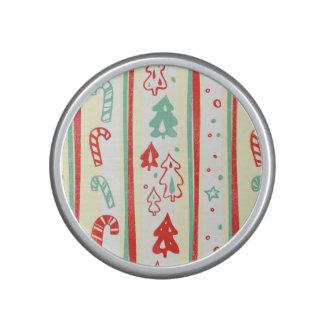 Christmas Tree Candy Cane Stripe Pattern Bluetooth Speaker