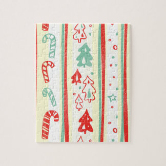 Christmas Tree Candy Cane Stripe Pattern Puzzles