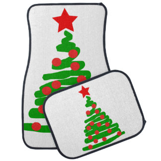 Christmas tree car mat
