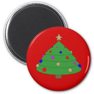 Christmas Tree Cartoon 6 Cm Round Magnet