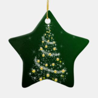 Christmas Tree Ceramic Star Decoration