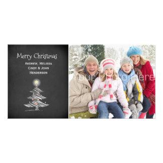 Christmas Tree, Chalkboard Photo Card