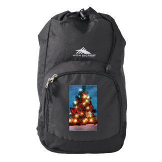 Christmas tree - Christmas decorations -Snowflakes Backpack
