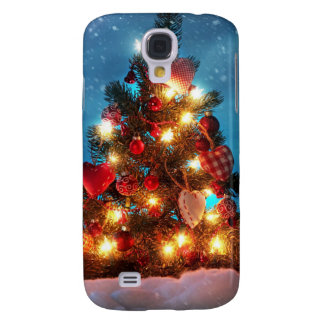 Christmas tree - Christmas decorations -Snowflakes Galaxy S4 Cover